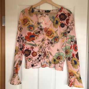 Topshop Floral and Stars Blouse